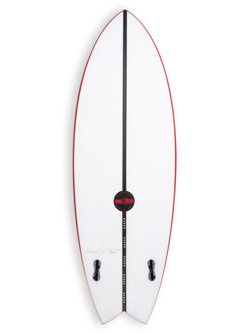 JS Red BAron EPS Twin fin Surfboard Bottom