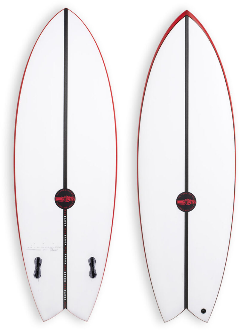 JS Red BAron EPS Twin fin Surfboard
