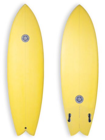 Elemnt Twin Fish Surfboard in Mustard